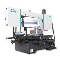 Double-column band saw machines for angular cutting, Horizontal